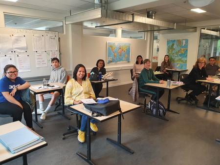 Foto i klasseværelse